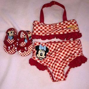 Disney Baby Bikini and flip flops